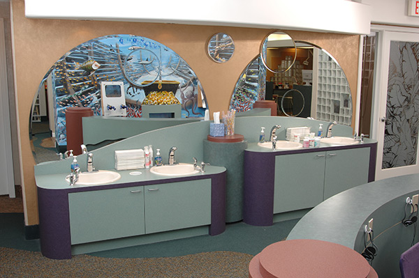 Wash Area and Games - Pediatric Dentist and Orthodontics in Tampa, Wesley Chapel, Lutz and Land O' Lakes, FL